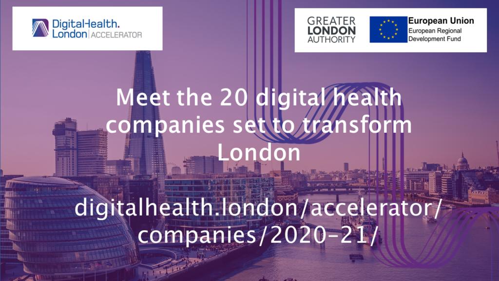 Digital Health London Accelerator cohort 5 announced