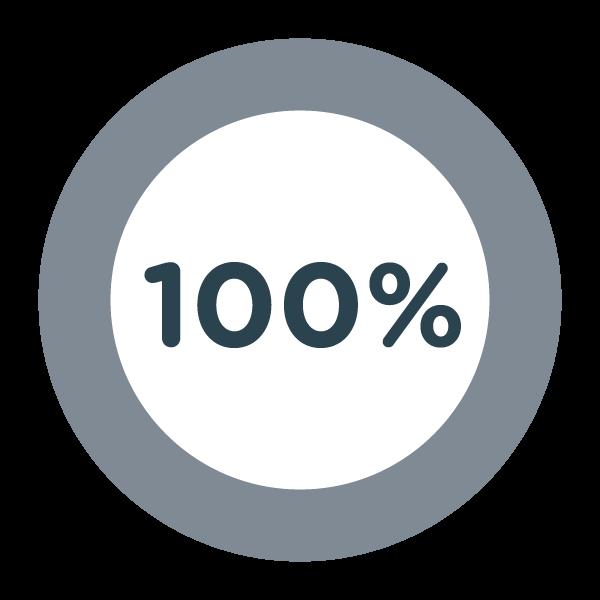 100% Pie Graph