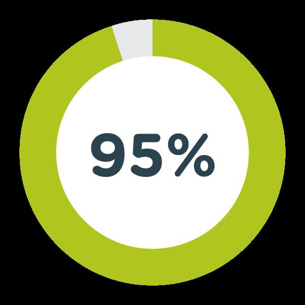 95% Pie Graph
