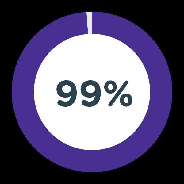 99% Pie Graph